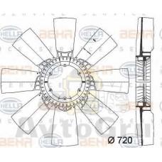Крыльчатка вентилятора d=750 11-лопастей \DAF CF85/XF105/XF95 STELLOX