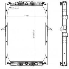 Радиатор охлаждения DAF XF 105 (05-) TERMAL
