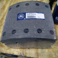 Комплект накладок тормозных BPW std